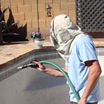 Tile Bead Blasting Cleaning